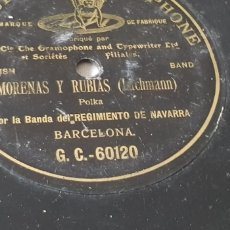 Discos de pizarra: DISCO 78 RPM BANDA DEL REGIMIENTO DE NAVARRA. Lote 151616929
