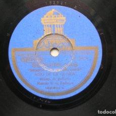 Discos de pizarra: NIÑO DE LA GLORIA. SEGUIRIYAS-FANADANGUILLOS..78 RPM.ODEON. Lote 151889526