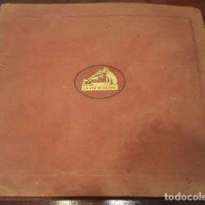 Discos de pizarra: ALBUM DE DISCOS DE PIZARRA - DISCOS DE PIEDRA. 12 DISCOS. SINFONIA NUMERO 8 EN SI MENOR. Lote 151895462