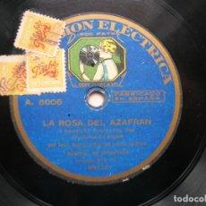 Discos de pizarra: ZARZUELA LA ROSA DEL AZAFRAN.POR LOS SRES.ALARES Y MARCEN Y CORO DE SRAS.DISCO RPM PATHÉ.. Lote 151896366