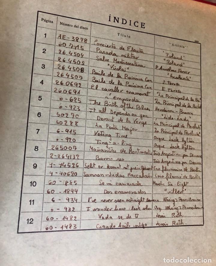 Discos de pizarra: La voz de su amo: Carpeta con más de doce discos con música variada. ver índice - Foto 2 - 151921494