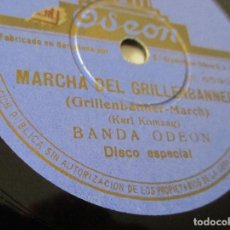 Discos de pizarra: DISCO PIZARRA GRAMÓFONO. MARCHA DEL GRILLENBANNER / HIMNO DE LA J.A.P.. Lote 151947358
