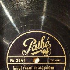 Discos de pizarra: DISCO 78 RPM - PATHE - RENEE LAMY - ORQUESTA - FRANCIA - Y´AVAIT D´L´ACCORDEON - PIZARRA. Lote 152004666