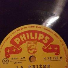 Discos de pizarra: DISCO 78 RPM - PHILIPS - PATACHOU - LEO CLARENS - LA PRIERE - LE BRICOLEUR - BRASSENS - PIZARRA. Lote 152007174