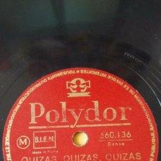 Discos de pizarra: DISCO 78 RPM - POLYDOR - HENRI LECA - QUIZAS, QUIZAS, QUIZAS / NEGRO TAM TAM - FRANCIA - PIZARRA. Lote 152008786