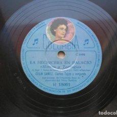 Discos de pizarra: CELIA GÁMEZ. LA HECHICERA EN PALACIO.( HIMNO A TARINGIA./ LA NOVIA DE ESPAÑA ).DISCO 78RPM COLUMBIA.. Lote 152019654