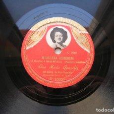 Discos de pizarra: ANA MARIA GONZÁLEZ.MADRILEÑA VERBENERA./ CLARA LUNA SEVILLANA. DISCO 78 RPM COLUMBIA.. Lote 152021878