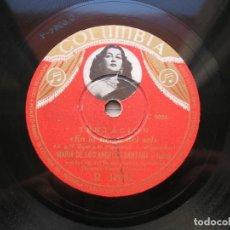 Discos de pizarra: MARIA DE LOS ANGELES SANTANA Y TRIPLES.TENTACIÓN ( EN LA TIERRA DEL SOL./ AMBISIOSA).78 RPM COLUMBIA. Lote 152022502