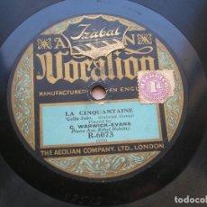 Discos de pizarra: C.WARWICK-EVANS.LA CINQUANTAINE.CELLO SOLO./ AVE MARIA.CELLO SOLO.DISCO 78 RPM VOCATION R-6073. Lote 152210258