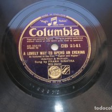 Discos de pizarra: FRANK SINATRA.I COULDN´T SLEEP A WINK LAST NIGHT./ A LOVELY WAY TO SPEND AN EVENING.DISCO 78 RPM . Lote 152211670
