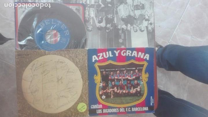 Discos de pizarra: BARÇA- AZUL Y GRANA- CANTAN LOS JUGADORES DEL F.C.BARCELONA - Foto 3 - 152544170
