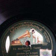 Discos de pizarra: EL MAÑICO. Lote 153375702