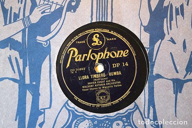 XAVIER CUGAT AND HIS WALDORF ASTORIA ORCHESTRA,1943: LLORA TIMBERO · MISIRLOU. PARLOPHONE CO 30892 (Música - Discos - Pizarra - Solistas Melódicos y Bailables)