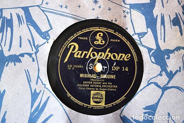Discos de pizarra: Xavier Cugat and his Waldorf Astoria Orchestra,1943: Llora timbero · Misirlou. Parlophone CO 30892 - Foto 2 - 153396354