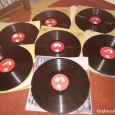 Discos de pizarra: LOTE MIGUEL FLETA. Lote 153706266