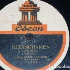 Discos de pizarra: DISCO 78 RPM - ODEON - GUIDO GIALDINI - FOXTROT - SILBADO - ORQUESTA - TUTHANKAMEN - PIZARRA. Lote 153853742