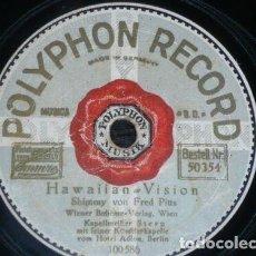 Discos de pizarra: DISCO 78 RPM - POLYPHON - KAPELLMEISTER STERN - BERLIN - HAWAIIAN - THE SHEIK - JAZZ - PIZARRA. Lote 153923650