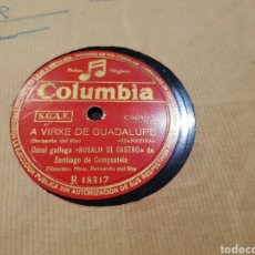 Discos de pizarra: DISCO DE PIZARRA 78 RPM GALLEGO. Lote 153928238