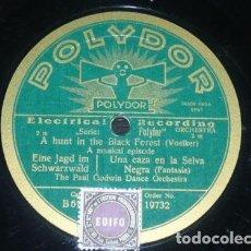 Discos de pizarra: DISCO 78 RPM - POLYDOR - PAUL GODWIN DANCE ORCHESTRA - MUSICAL EPISODE - VOELKER - PIZARRA. Lote 154162614