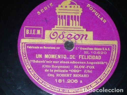 DISCO 78 RPM - ODEON - ORQUESTA ROBERT RENARD - FILM - ORO - JAZZ ALEMAN - RARO - PIZARRA (Música - Discos - Pizarra - Jazz, Blues, R&B, Soul y Gospel)