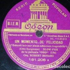 Discos de pizarra: DISCO 78 RPM - ODEON - ORQUESTA ROBERT RENARD - FILM - ORO - JAZZ ALEMAN - RARO - PIZARRA. Lote 154164922