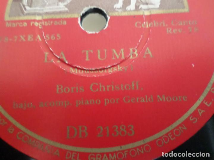 Discos de pizarra: DISCO CANCION DEL PRISIONERO LA TUMBA - Foto 2 - 154469010