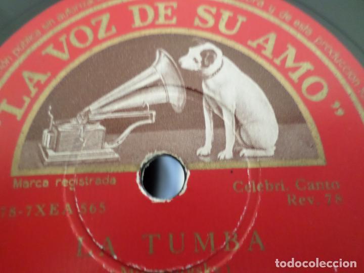 Discos de pizarra: DISCO CANCION DEL PRISIONERO LA TUMBA - Foto 4 - 154469010