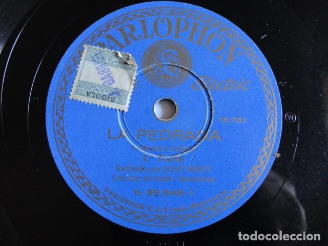 JOSÉ MIRET - LA PEDRADA (GABRIEL Y GALÁN) 1ª PARTE / 2ª PARTE - PARLOPHON B. 25.546 (Música - Discos - Pizarra - Bandas Sonoras y Actores )