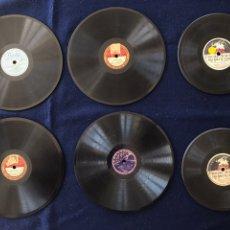 Discos de pizarra: LOTE DE 6 DISCOS DE PIZARRA PEQUEÑOS. Lote 154493962
