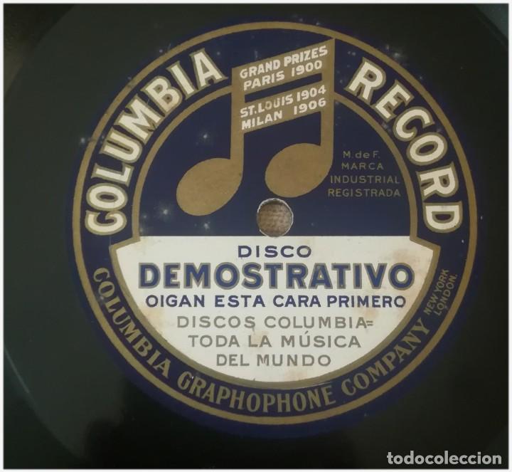 Discos de pizarra: Disco publicitario de Columbia en pizarra, dos caras .Con su funda. Muy raro - Foto 3 - 155357498