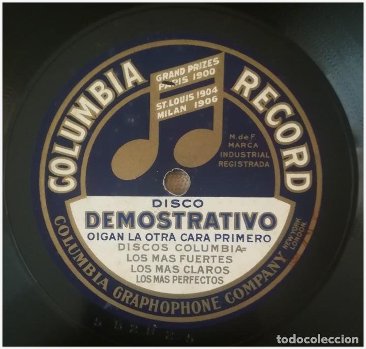 Discos de pizarra: Disco publicitario de Columbia en pizarra, dos caras .Con su funda. Muy raro - Foto 4 - 155357498