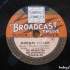 Discos de pizarra: THE MANHATTAN MELODYMAKERS - DREAM LOVER/THE PUNCH AND JUDY SHOW SELLO BROADCAST 10''. Lote 155525330