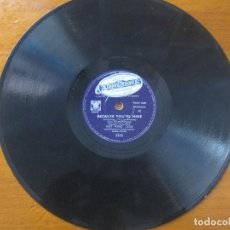 Discos de pizarra: NAT KING COLE - I'M NEVER SATISFIED/BECAUSE YOU'RE MINE SELLO CAPITOL 10''. Lote 155529102