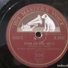 Discos de pizarra: MAREK WEBER AND HIS ORCHESTRA-VIENNA BON BONS WALTZ/ROSES OF THE SOUTH 10'' HIS MASTER'S VOICE.. Lote 155531758