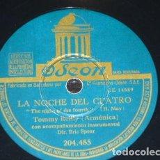 Discos de pizarra: DISCO 78 RPM - ODEON - TOMMY REILLY - ARMONICA - CANADA - EL COWBOY PEREZOSO - PIZARRA. Lote 155558326