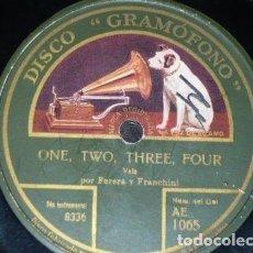 Discos de pizarra: DISCO 78 RPM - GRAMOFONO - FERERA & FRANCHINI - TRIO HAWAIIAN - HAWAIIAN TWILIGHT - PIZARRA. Lote 155671670