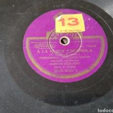 Discos de pizarra: DISCO 78 RPM CONCURSO ODEON. Lote 155786454