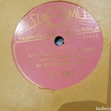 Discos de pizarra: DISCO ASTURIANO 78 RPM MUY RARO. Lote 155813612