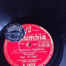 Discos de pizarra: LA CHIQUITA PICONERA PEPE EL PINTO. Lote 155827350