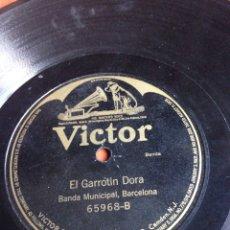Discos de pizarra: EL GARROTIN DORA BANDA MUNICIPAL. Lote 155829077