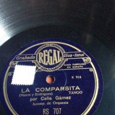 Discos de pizarra: LA COMPARSITA CELIA GÁMEZ. Lote 155832405