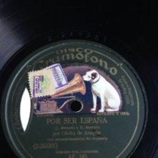 Discos de pizarra: POR SER ESPAÑA POR ORFELIA DE ARAGÓN. Lote 155832893