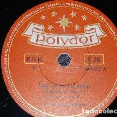 Discos de pizarra: DISCO 78 RPM - POLYDOR - HULA HAWAIIAN QUARTETT - HAWAII - RUMBA BOLERO - PIZARRA. Lote 155834802