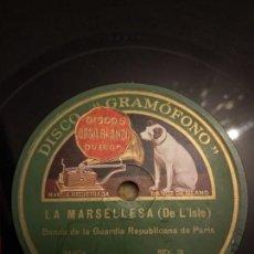 Discos de pizarra: BANDA DE LA GUARDIA REPUBLICANA PARIS. Lote 155885950