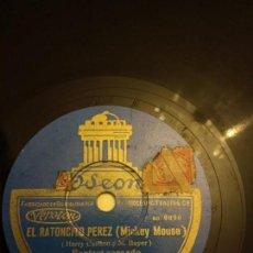 Discos de pizarra: EL RATONCITO PÉREZ MICKEY MOUSE. Lote 155886942