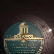 Discos de pizarra: ORQUESTA TÍPICA ARGENTINA. Lote 155893918
