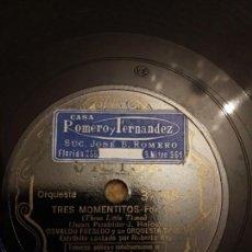 Discos de pizarra: TRES MOMENTOS, EL VALS DE ANASTASIA. Lote 155898878