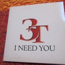 Discos de pizarra: 3T MAXI-CD- TITULO I NEED YOU - CON 1 TEMA- PROMOCIONAL- DEL 96- NUEVO . Lote 155947306