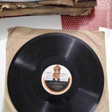 Discos de pizarra: DISCO DE GRAMÓFONO LA GRANVÍA. Lote 156002850