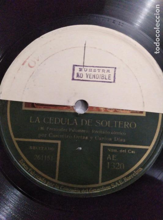 Discos de pizarra: Disco de gramófono disco de muestra - Foto 2 - 156024602